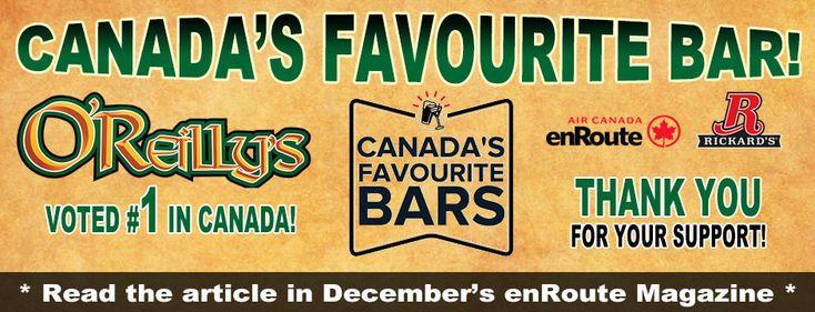 Canada's Favourite Bar is O'Reilly's Irish Newfoundland Pub!
