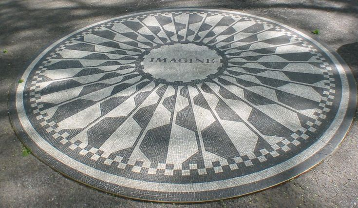 the Imagine mosaic in Central Park - New York City: City Council, Central Park