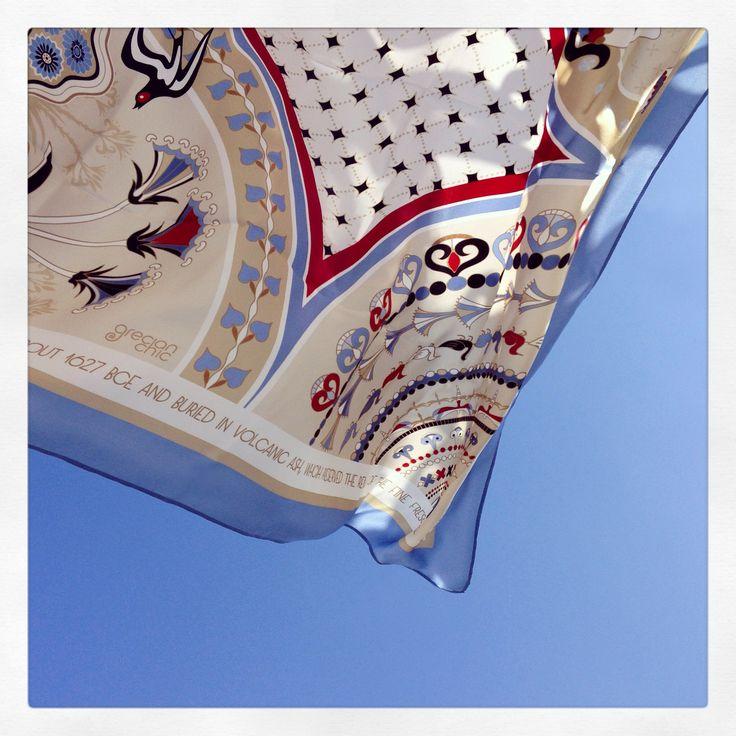 """""""Santorini"""" silk scarf by Grecian Chic"""