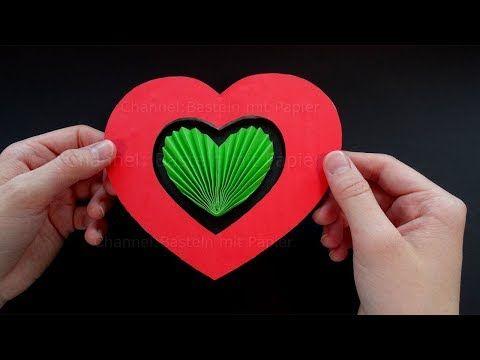 Muttertagsgeschenke Basteln Mit Papier Diy Karte Mit 3d Herz Selber