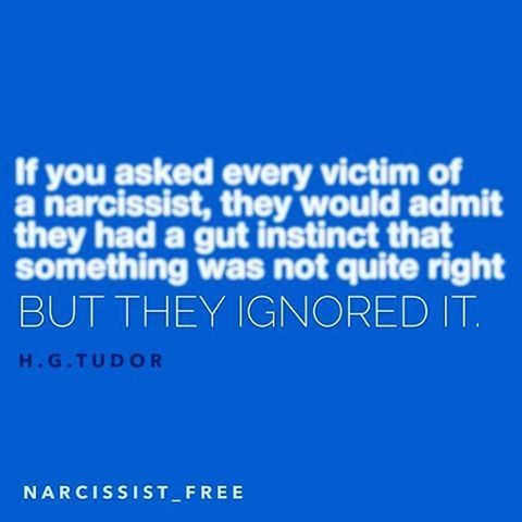 Those who do not fall victim to a narcissist listened to their instinct and walked away. Of course there are those who are not attracted to narcissists to begin with. Certainly does not mean we are at fault for ignoring our gut instinct. We may not be honed in to it, or we may have been seduced in such a way that we gave the narcissist the benefit of the doubt. #narcissist