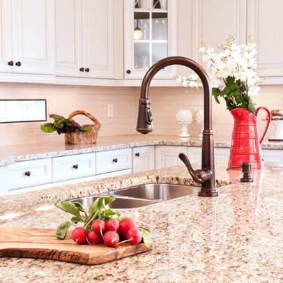 Giallo Ornamental ::: Granite Countertop Color   Will Look FAB With White  Or Off