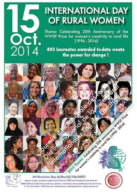 mujer del mediterraneo: 15 de octubre, Día Mundial de la Mujer Rural