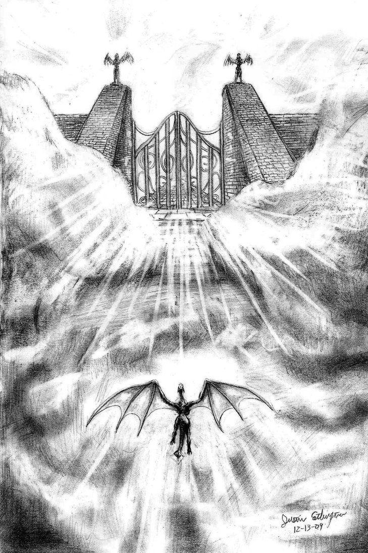 Рисованные черно белые картинки ад, открытках приглашений