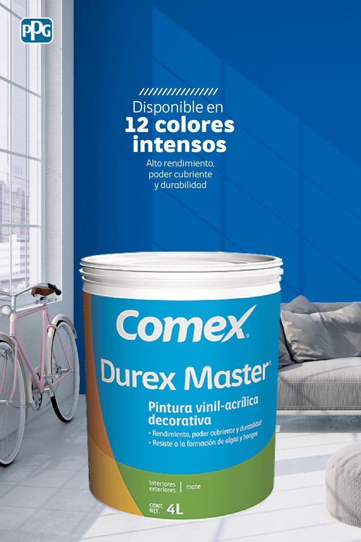 Durex Master es nuestra pintura vinil-acrílica decorativa, base agua, que puedes encontrar ahora, disponible en 540 colores del sistema ColorLife®.   #ProductosComex #Comex #ComexLATAM #Ideas #Inspiration #Hogar #Home #Calidad #Espacios #Colores #Room ##Colors #Decoración #Habitación #Inspiración #Acabados #Protección #Livingroom #Wall #Deco