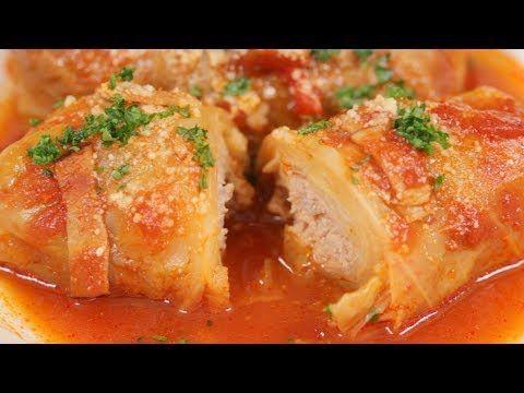 Hojas de repollo rellenas de carne Cooking with a dog YouTube