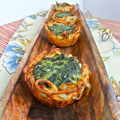 I Can't Believe It's Not Leavened! 10 Genius Passover Recipes  - Redbook.com Spinach Potato Nests