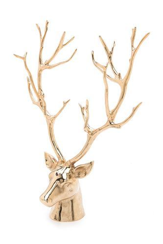 21 Rustic Home Goods That Bring The Ski Lodge To You #refinery29  http://www.refinery29.com/2014/01/61079/ski-lodge-decor#slide-2  The token deer decor — much less frightening than those taxidermy wall mounts, no?