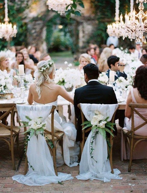 18 Bride and Groom Wedding Chair Decoration Ideas