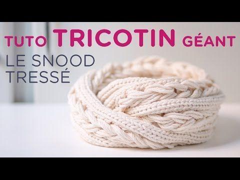 Tutoriel pour réaliser un joli snood tressé 2 tours de cou au tricotin circulaire. Par Veganknitter, avec du fil à tricoter Merlin de Kaneh Bosem.