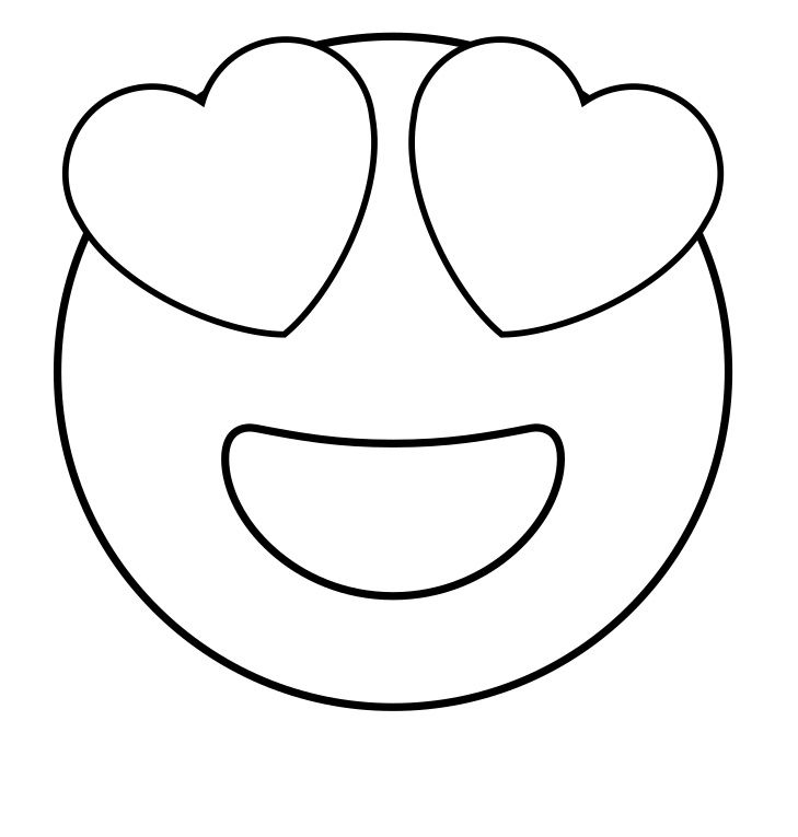 Free Printable Emoji Coloring Pages For Kids, Heart and ...