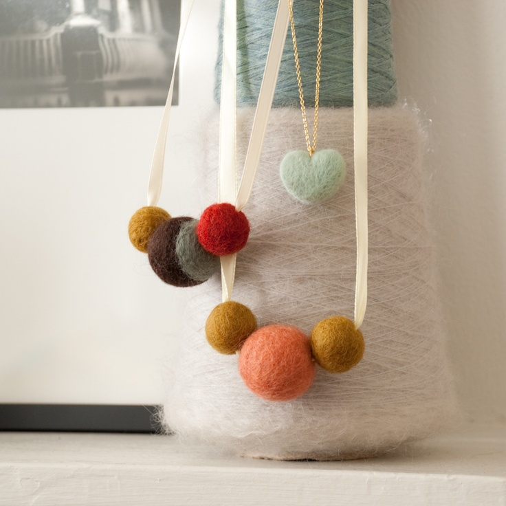 Needle Felted Jewelry (purl bee class)