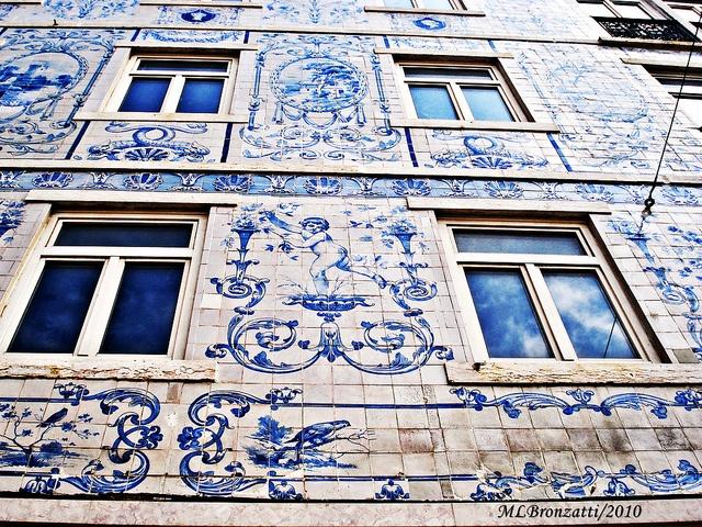 Lisbon and its beautiful tiles. Building Ceramics Factory Widow Lamego