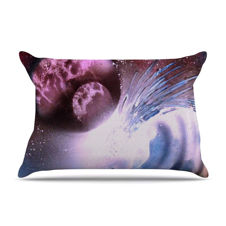 "Infinite Spray Art ""Space Tube"" Pink Purple Pillow Case"
