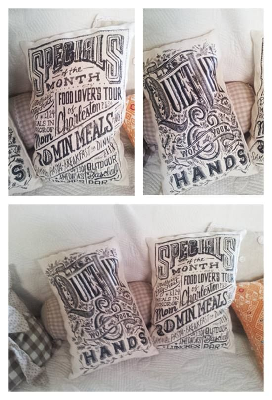 Stampe su juta con transfer per tessuti chiari. #cuscini #vintage #tessuti