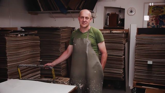 """""""The Papermaker"""" is a short documentary about one of the last handcrafting papermakers in Europe and his great love for paper. Gangolf Ulbricht makes unique tree- free papers by hand. For international artists, conservators, photographers, printers and many more."""