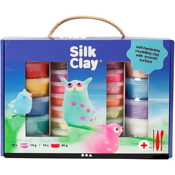 Silk Clay Modellera Presentask 1 Set Mix