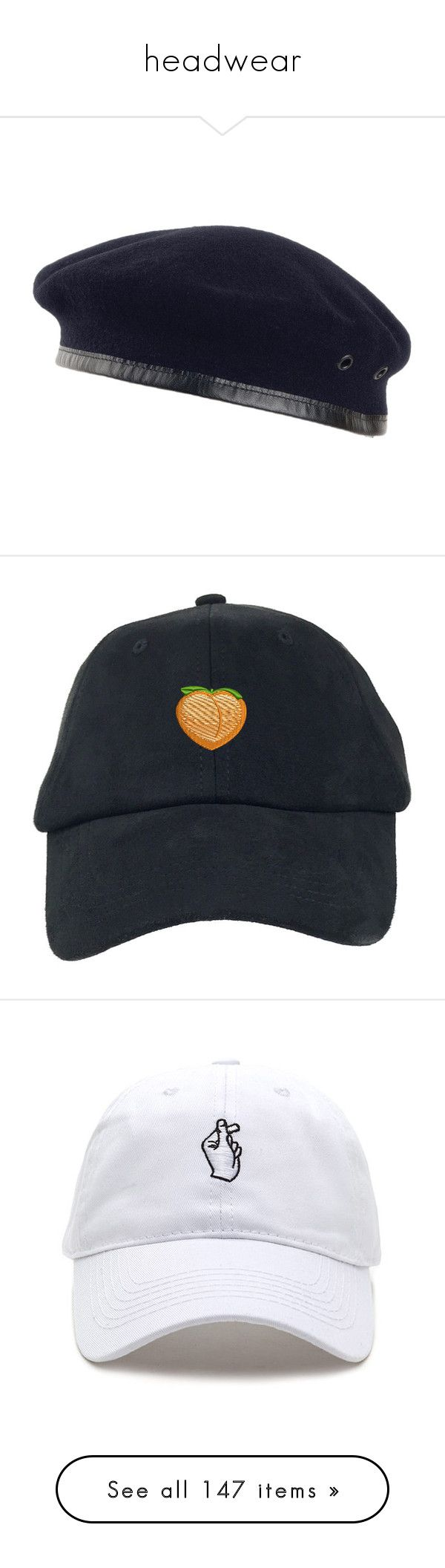 """""""headwear"""" by vheart-official ❤ liked on Polyvore featuring hats, accessories, beanies and hats, headwear, beret cap, navy blue cap, navy blue beret, military beret, navy hat and baseball cap hats"""