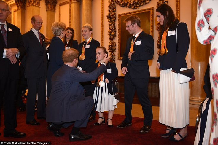 Swimmer Ellie Simmonds, 21, who won her fifth gold medal in Brazil in August, was thrilled to go to Buckingham Palace as the Royal Family honoured the sporting heroes of Rio.