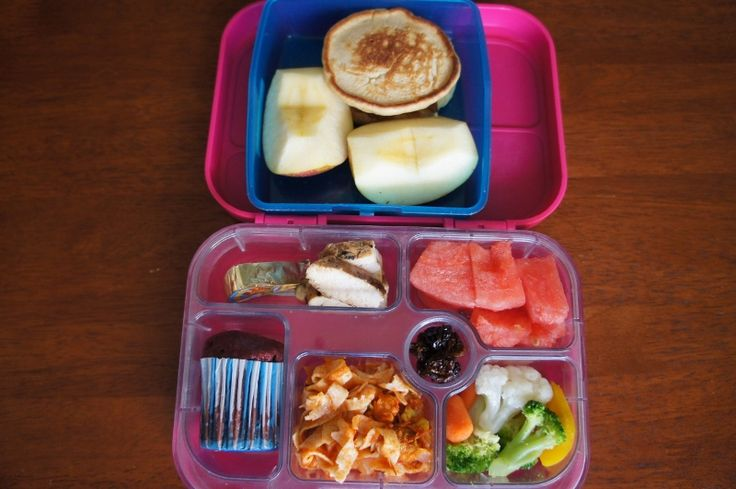 Friday 10 April 2015 // Morning tea: buckwheat pancakes with strawberry jam, apple // Lunch: Happy Cow cheese, chicken, pasta with tomato sauce, veg, watermelon, cranberries, choc beetroot muffin (recipe testing)