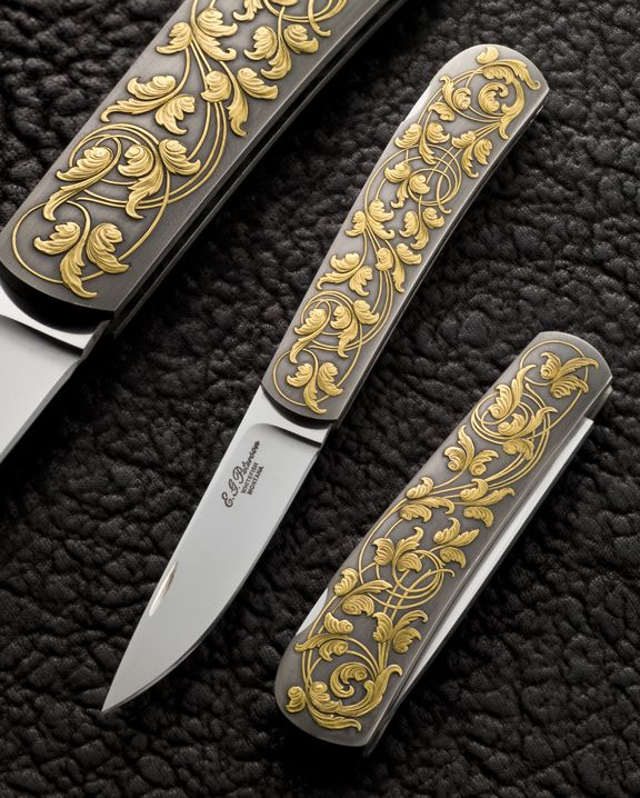 Art Nouveau knives - I collect pocket knives and have a pretty good collection, thus far...
