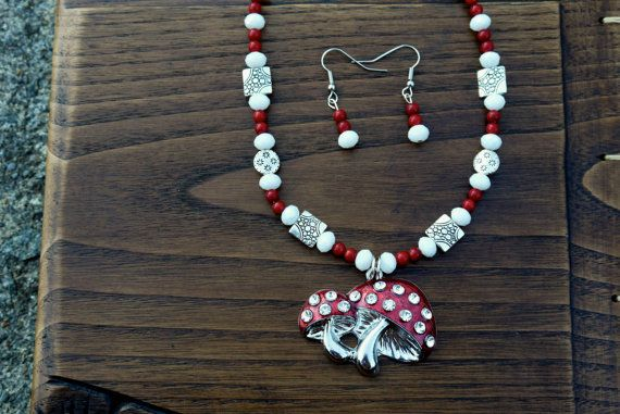 Red and White Mushroom Necklace Stunning Mushroom by missioncatnip, $32.00