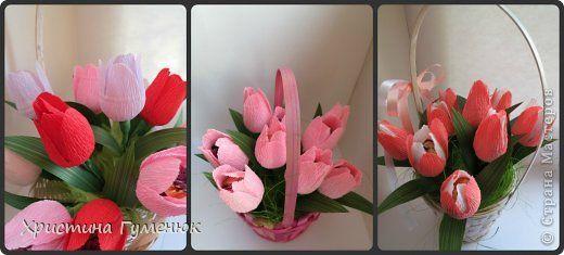 Здравствуйте! Хочу показать как я делаю тюльпан, так как многие просили в письмах...  фото 1