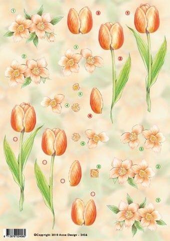 Anne Design 2456 Knipvel Tulpen