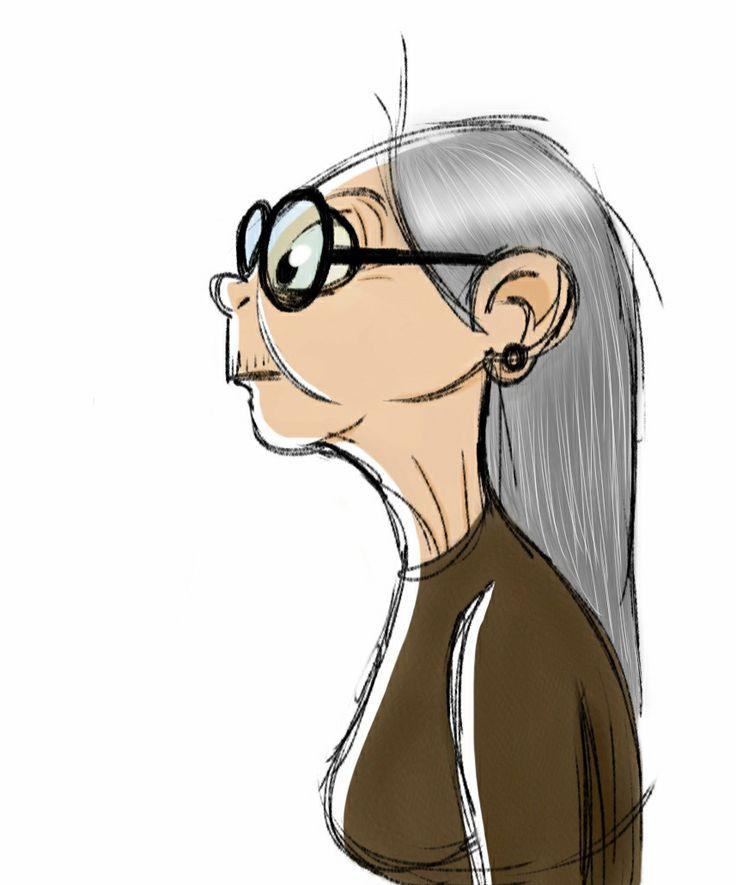 Old lady sketch on iPad. Follow me at http://2dmiriam.tumblr.com/