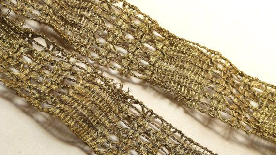 Antique metallic gold heavy passementerie by ExquisiteThreads