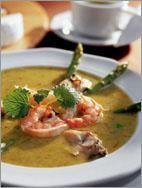 Суп из спаржи с морепродуктами