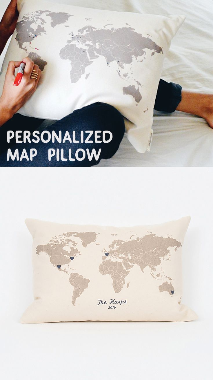 Best Finch  Cotter Personalized Pillows And Home Decor Images - Us map pillow personalized