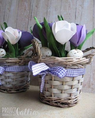 ProjectGallias: #projectgallias Handmade Spring flowers, Wiosenne kwiaty krokusty, foamiran