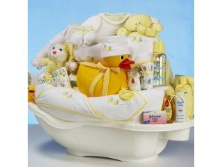 the ultimate baby shower gift deluxe rubber ducky themed gift basket unique baby gift