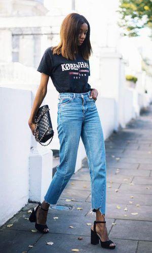 Os Saltos Blocos São Estilosos, Chiques e Confortáveis | Roupas da moda feminina, Ideias fashion, Calça jeans para gestantes