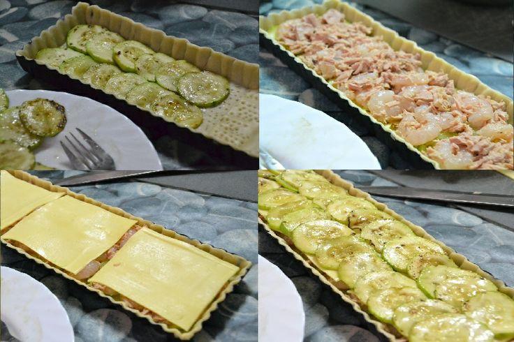 Cocinando con Kisa: Pastel de calabacin, atún y gambas