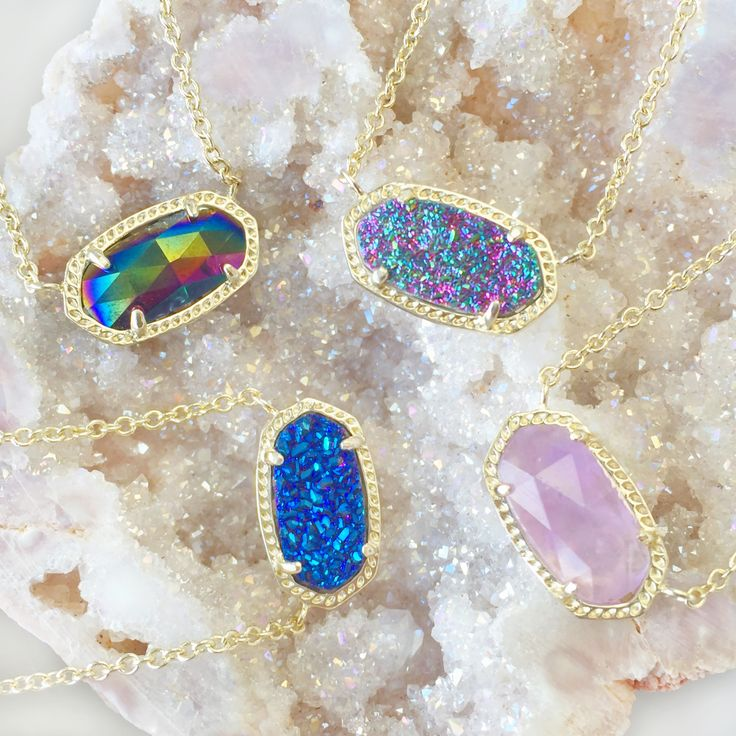 Do tell! Which is your Favorite? #MulticoloredDrusy #BlueDrusy #Amethyst #BlackIridescent