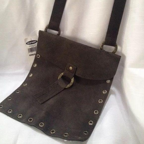 Genuine suede leather Old Navy shoulder bag brown Small genuine suede Old Navy shoulder bag. Old Navy Bags Shoulder Bags