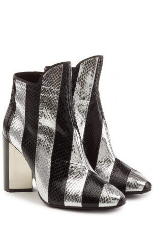 Pierre Hardy Pierre Hardy Ankle Boots aus Schlangenleder – Multicolor