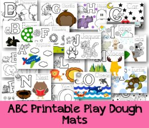 printable play dough mats