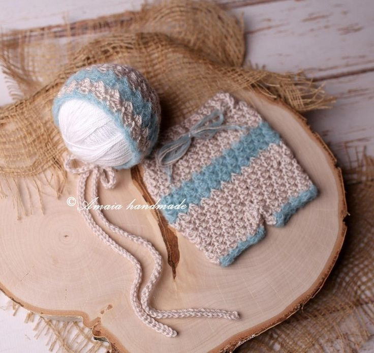 Newborn girl photo outfit - Crochet newborn pants and hat - Beautiful baby girl photo prop - made to order - Soft acrylic and alpaca mix by Amaiahandmade on Etsy
