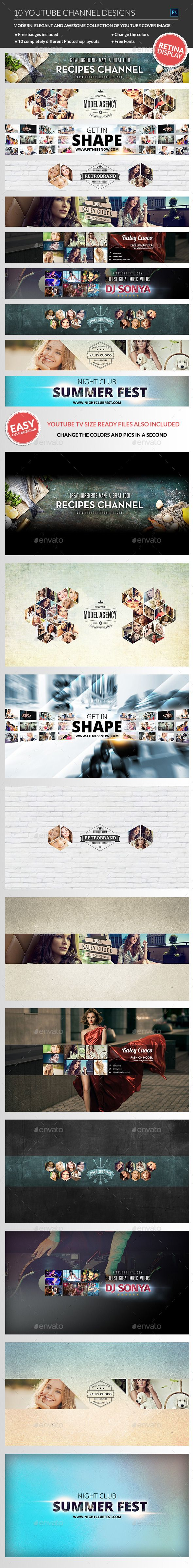 10 Multipurpose YouTube Channel Banners Template PSD. Download here: http://graphicriver.net/item/-10-multipurpose-youtube-channel-banners/11090920?ref=ksioks