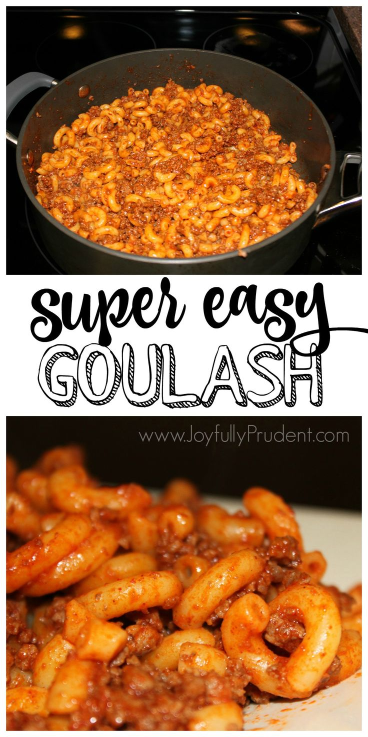 I have a super EASYrecipe for you today. It's perfect for busy weeknights and requires little time. This is my mother in law's goulash and it's definitely one of my hubby's favorites. Here's what you'll need: -About 1/2 Package of elbow noodles (enough to make about 3.5-4 cups of cooked noodles) -Ketchup (I don't measure, but probably use about 1/2 cup. You want it to