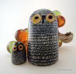 Oiva Toikka Barn Owl set - Iitala (Birds by Toikka)
