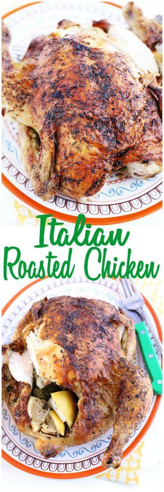 Italian Roasted Whole Chicken