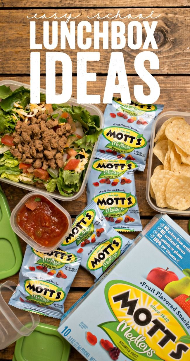 These Easy Lunchbox Ideas are great ideas to add to your school lunch menu! #packedwithmotts #mottsmedleys #ad