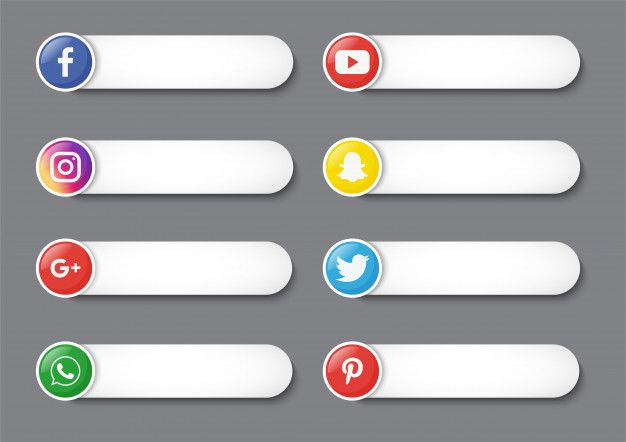 Collection Of Social Media Lower Third Isolated On Gray Background Logo Facebook Instagram Logo Facebook And Instagram Logo