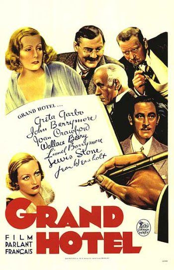 Grand Hotel movie - John Barrymore, Lionel Barrymores and Garbo. What fun!