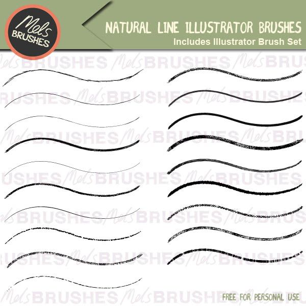 Natural line illustrator brushes. Get them free here.. http://www.melsbrushes.co.uk/?p=2473