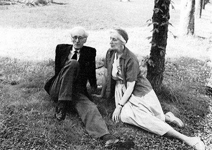 Jozef Czapski con la sorella Maria a Maison-Laffitte nel 1961